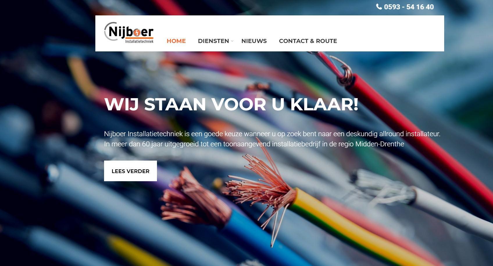 Nieuwe website voor Nijboer installatie